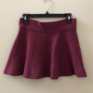 Talula Flare Faldo Burgundy Sweater Skirt Sz S